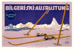 """Bilgeri-Ski"" Original Antique Ski Poster"