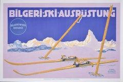 Matterhorn c. 1910 Skiing Original Vintage Poster Bilgeri Ski Carl Kunst Bregenz
