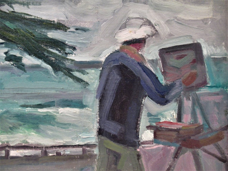 Victor at Work - American Impressionist Painting by Carl Lewis Bowman