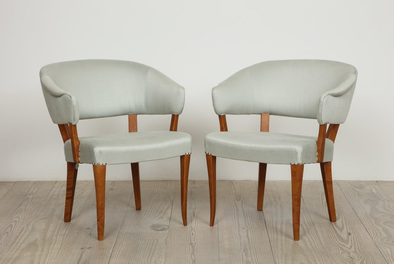 Carl Malmsten, Lata Greven Klismos Style Armchairs, Pair For Sale 6