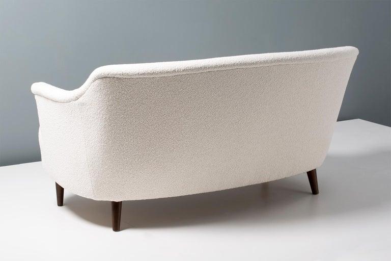 Swedish Carl Malmsten 1940s Vintage Boucle Sofa For Sale