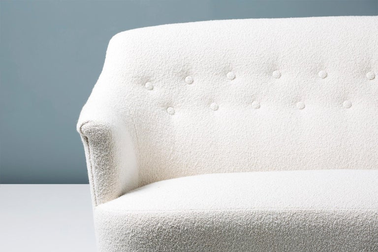 Mid-20th Century Carl Malmsten 1940s Vintage Boucle Sofa For Sale