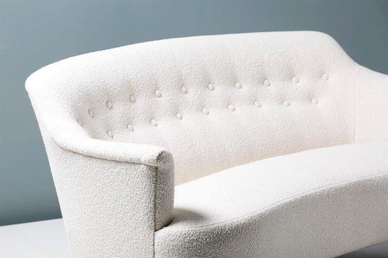 Bouclé Carl Malmsten 1940s Vintage Boucle Sofa For Sale