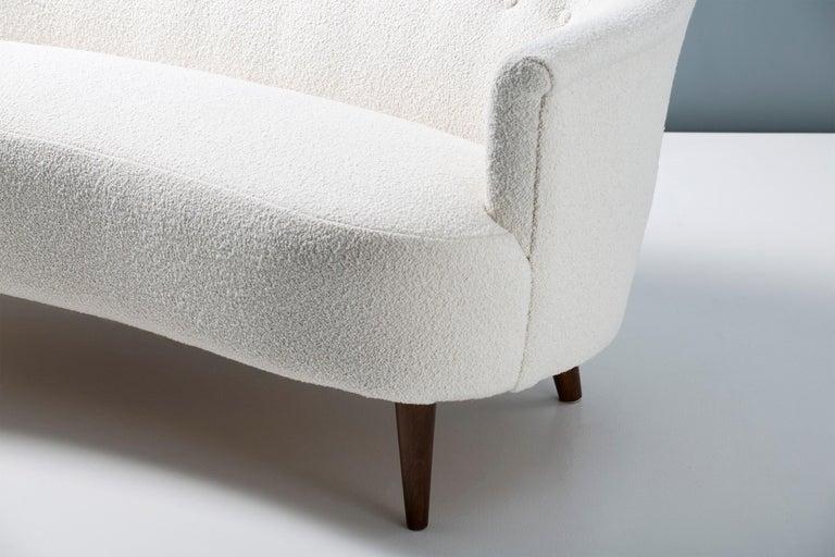 Carl Malmsten 1940s Vintage Boucle Sofa For Sale 1