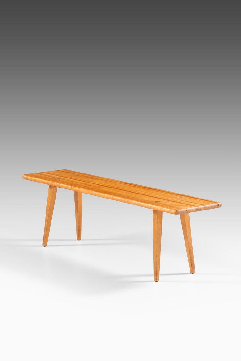 Bench model Visingsö designed by Carl Malmsten. Produced by Svensk Fur in Sweden.