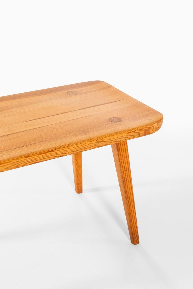 Rare pair of benches model Visingsö designed by Carl Malmsten. Produced by Svensk fur in Sweden.