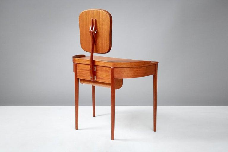 Scandinavian Modern Carl Malmsten Birgitta Dressing Table, Mahogany