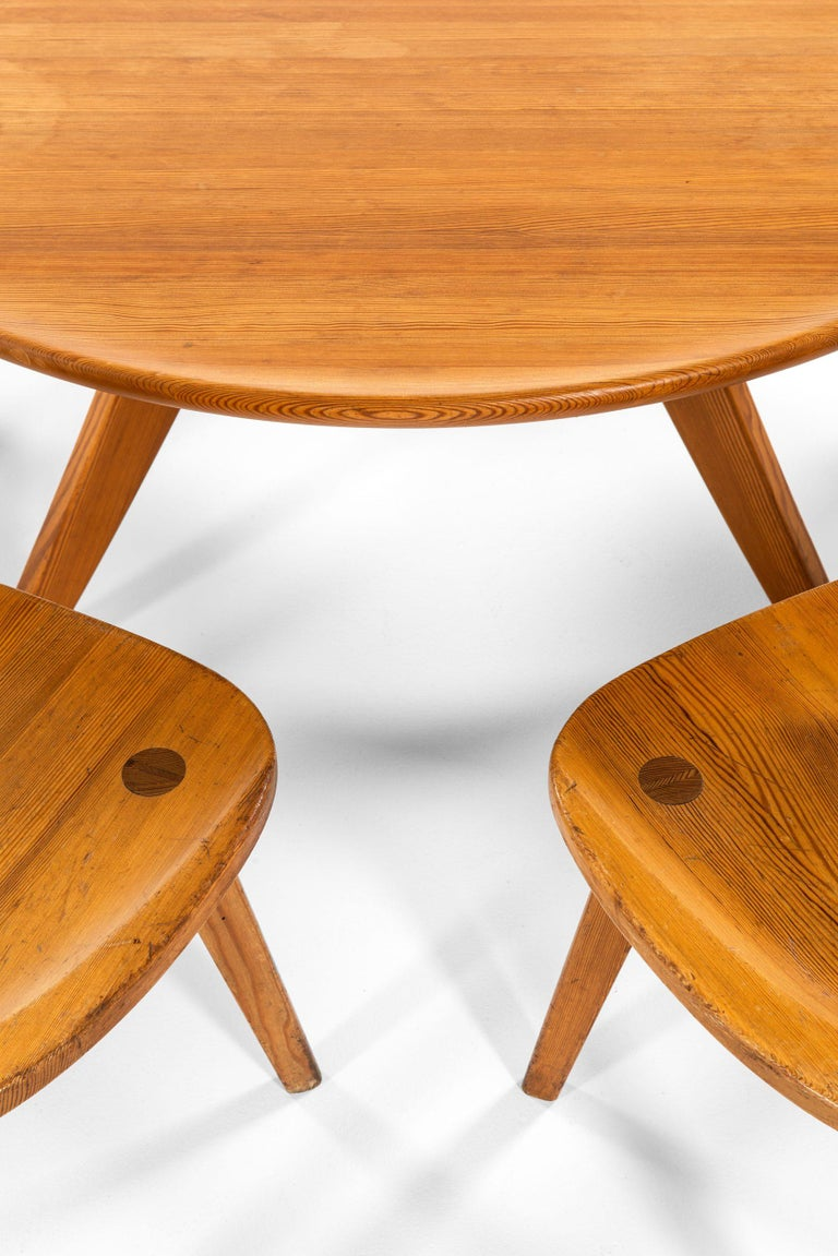 Carl Malmsten Coffee Table Produced by Svensk Fur in Sweden For Sale 3