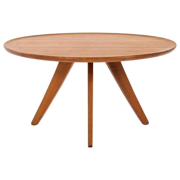 Carl Malmsten Coffee Table Produced by Svensk Fur in Sweden For Sale