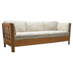 Carl Malmsten Early Pine Sofa Bed, Sweden, 1940s