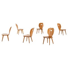 Carl Malmsten Easy Chairs Produced by Svensk Fur in Sweden