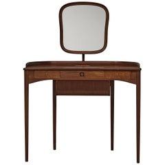 Carl Malmsten for Bodafors Dressing Table 'Brigitta' in Mahogany