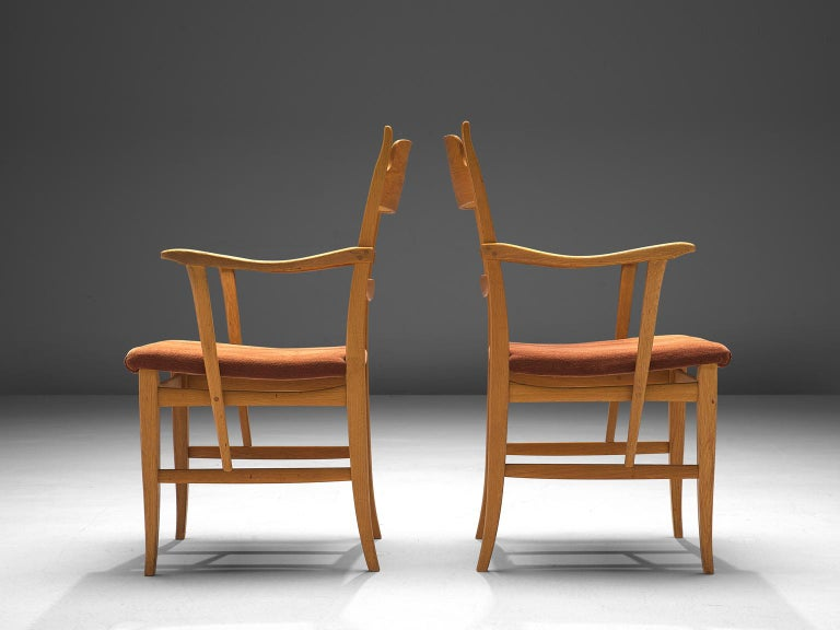 Carl Malmsten Large Set of Dining Chairs In Good Condition For Sale In Waalwijk, NL