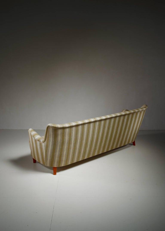 Swedish Carl Malmsten Rare Four-Seat Sofa, Sweden For Sale