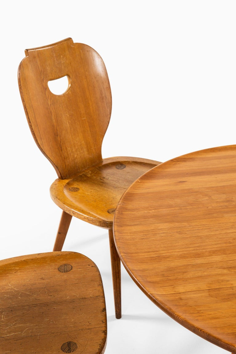 Carl Malmsten Seating Group Produced by Svensk Fur in Sweden For Sale 4