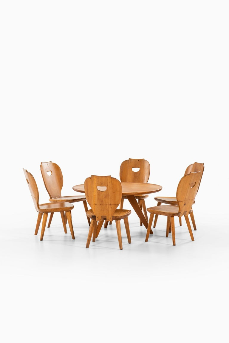 Carl Malmsten Seating Group Produced by Svensk Fur in Sweden For Sale 5