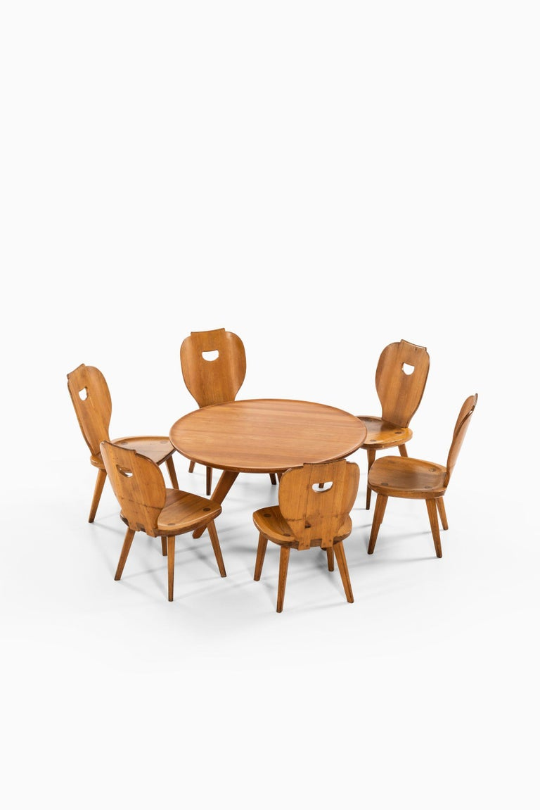 Carl Malmsten Seating Group Produced by Svensk Fur in Sweden For Sale 2