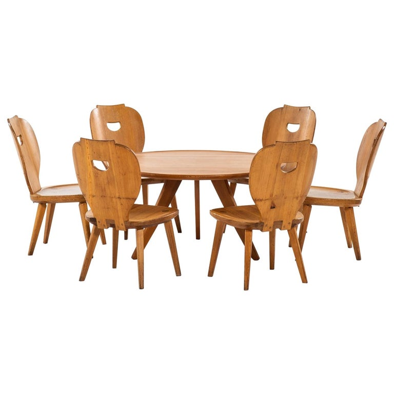 Carl Malmsten Seating Group Produced by Svensk Fur in Sweden For Sale