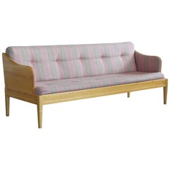 Carl Malmsten Sofa Model Gustavianus in Birch and Wool, Scandinavian Midcentury