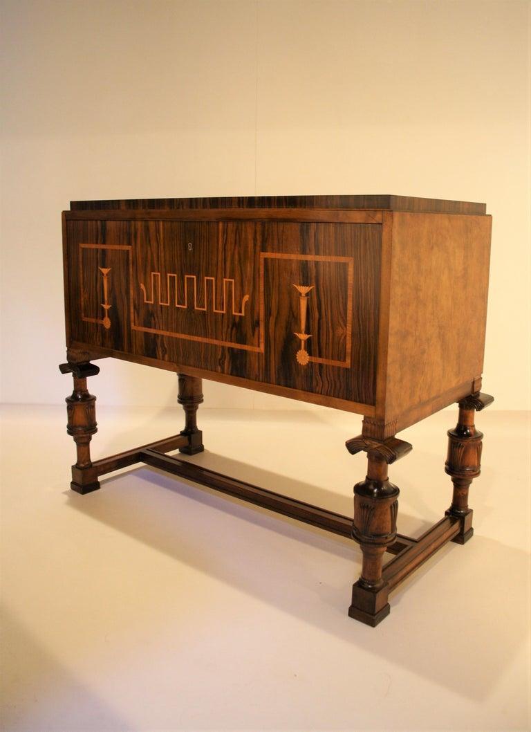 Veneer Carl Malmsten Swedish Grace Cabinet, 1920s For Sale
