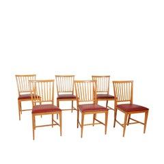 """Carl Malmsten """"VARDAGS"""" Chairs 1943 for Karl Anderson & Söner"""