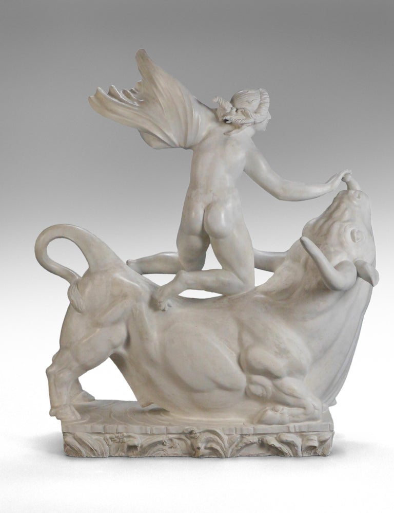 Carl Milles, Rare Plaster Sculpture of Europa and the Bull In Excellent Condition For Sale In New York, NY