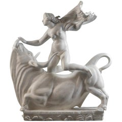 Carl Milles, Rare Plaster Sculpture of Europa and the Bull