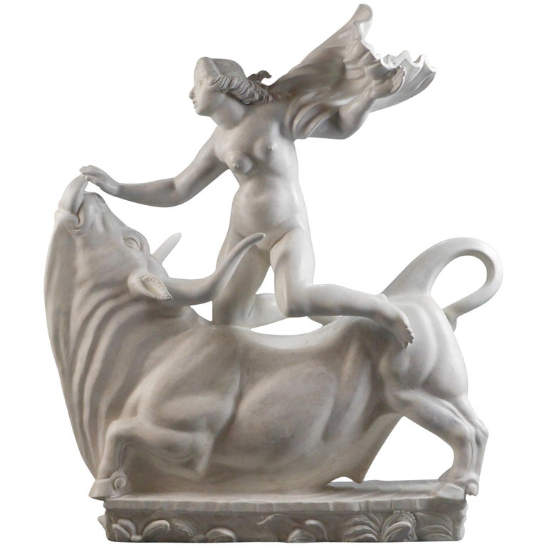 Carl Milles, Rare Plaster Sculpture of Europa and the Bull For Sale