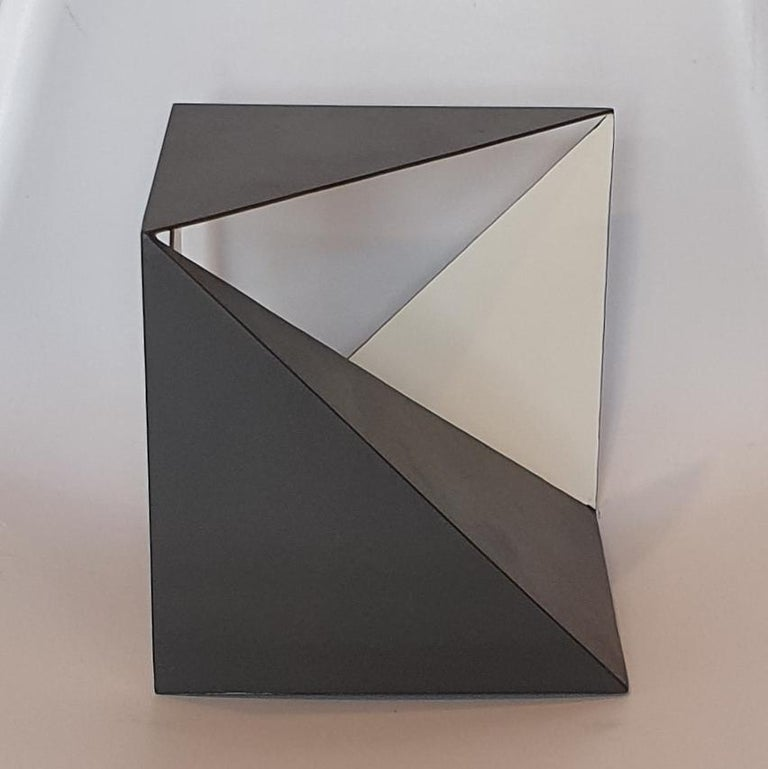 Steel 68 - contemporary modern abstract geometric sculpture For Sale 1