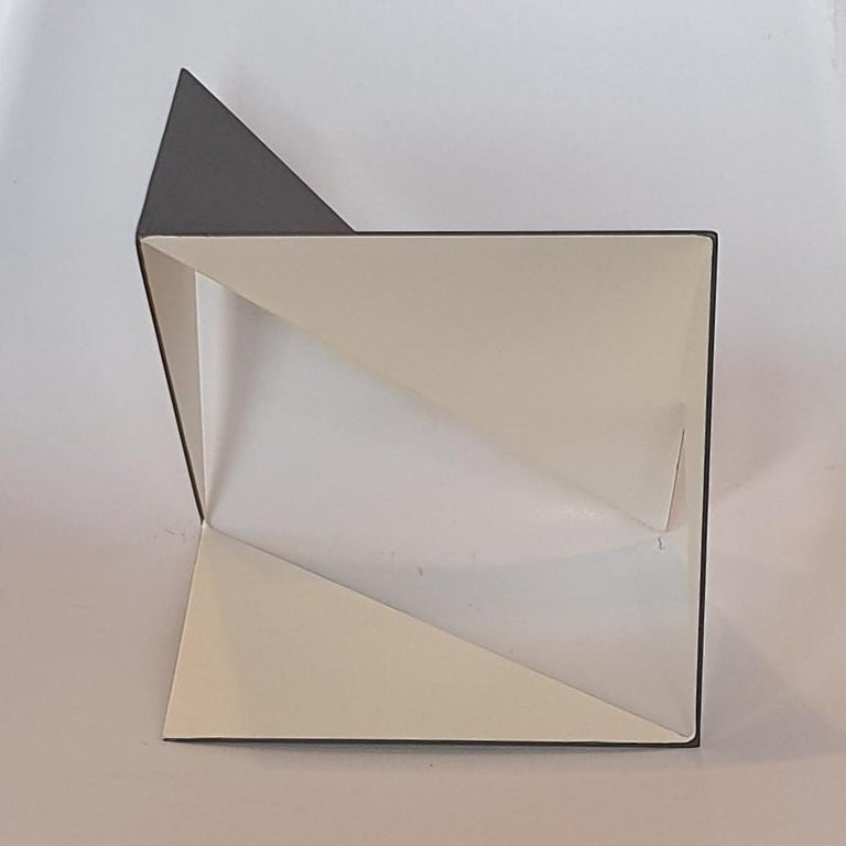 Steel 74 - contemporary modern abstract geometric sculpture For Sale 1