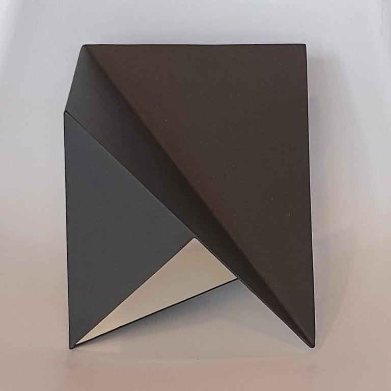 Carl Möller Abstract Sculpture - Steel 74 - contemporary modern abstract geometric sculpture
