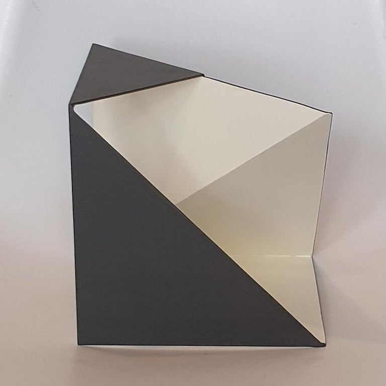 Steel 76 - contemporary modern abstract geometric sculpture For Sale 1