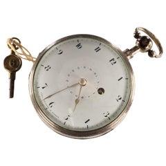 Carl Neumann of Berlin Silver Key-Wind Pocket Watch Intricate Movement