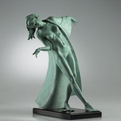 20th Century Modern Bronze nude and figurative sculpture 'Sienna' by Carl Payne