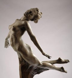 Bronze sculpture 'Atalanta' a virgin huntress in Ancient Greek Mythology