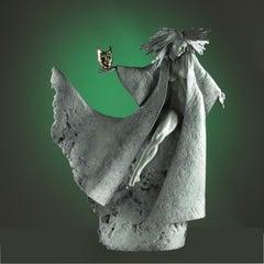 Bronze sculpture of a dancer at a Masquerade Ball 'Masquerade' by Carl Payne
