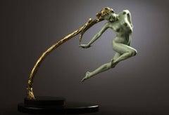 Bronze sculpture of 'Rapunzel' from German fairytale by Carl Payne