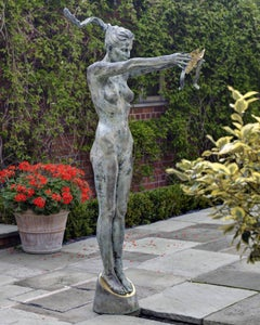 'Circe' The Goddess of Magic - Life-size Solid Bronze Nude Figure by Carl Payne