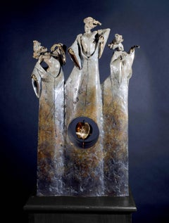 Contemporary Bronze sculpture of Ancient Greek Myth 'The Three Fates' Carl Payne