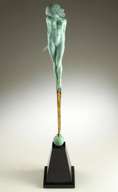 Contemporary Nude Bronze Sculpture 'Le Pucelle' by Carl Payne