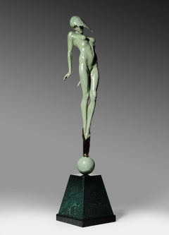 Contemporary Figurative & Nude Dream Bronze Sculpture 'le Pucelle' by Carl Payne