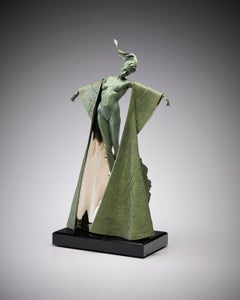 Contemporary Solid Bronze Nude Figurative Sculpture 'Aurora' by Carl Payne