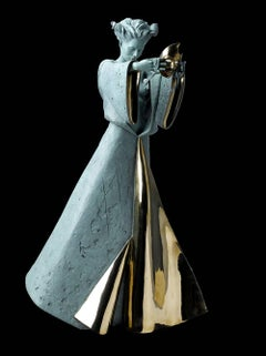 Figurative Solid Bronze Sculpture 'Venetian Rendezvous' by Carl Payne