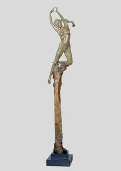 'Kora' Figurative Nude Half Life size Bronze sculpture by Carl Payne.