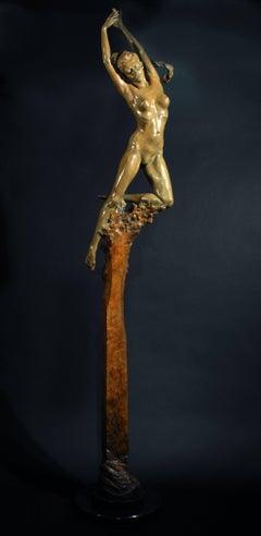'Kora' Solid Bronze Nude Figurative sculpture, Greek Mythology, Carl Payne