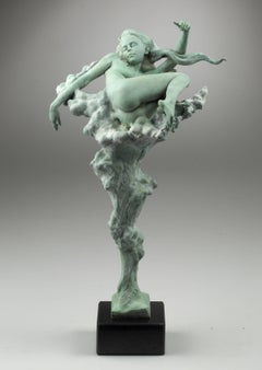 Nude Figurative Bronze Contemporary Sculpture 'Lazy Summer' by Carl Payne