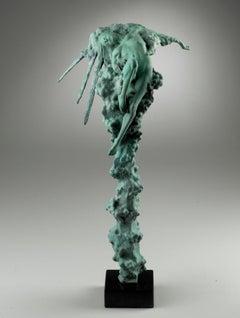 'Sunburst' Contemporary Nude Figurative Sculpture of a woman on a cloud