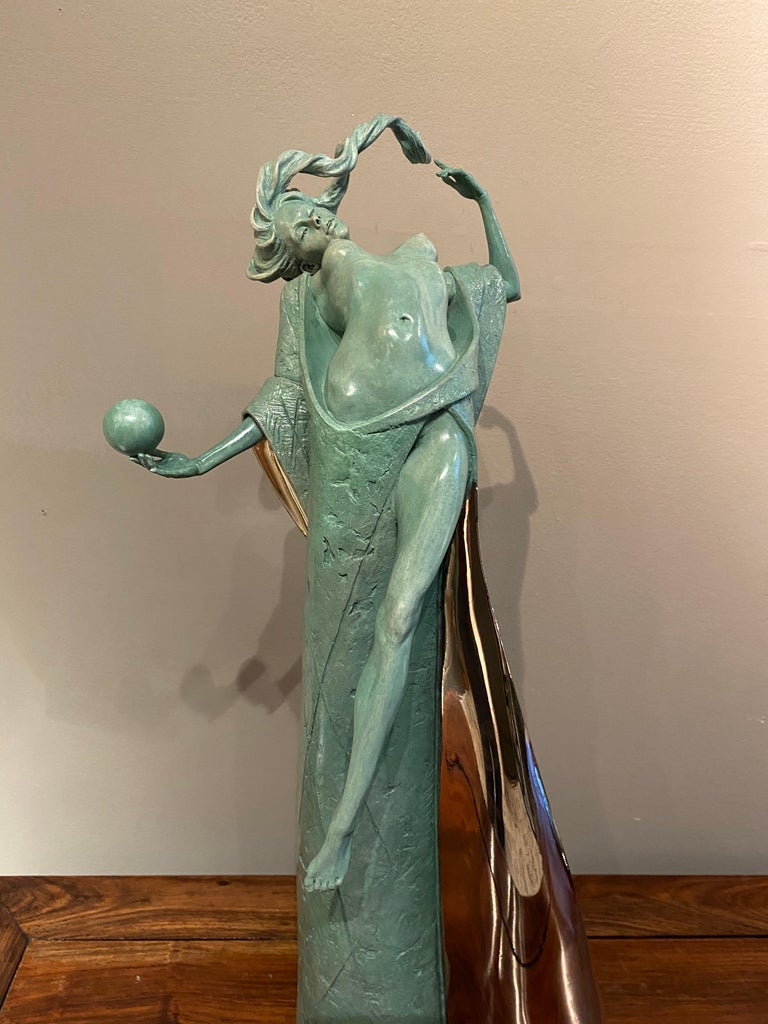 'Temptation' by Carl Payne is a stunning Contemporary Nude Figurative Bronze Sculpture.  Continuing a successful career in England and Ireland, Carl joined Callaghan Fine Paintings and Works of Art at the beginning of 2004 in order to dedicate his