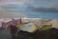 """""""West Texas Rocky Landscape""""   Abstract Mid Century Modern"""