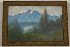 Carl Sammons Western Mountain Landscape Pastel Painting C.1920